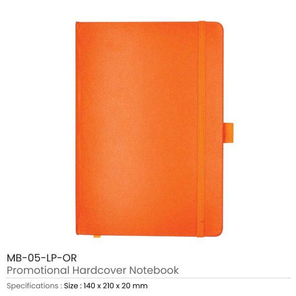 Hard Cover Notebooks Orange