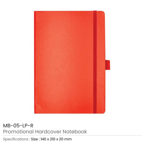 Hard Cover Notebooks Red