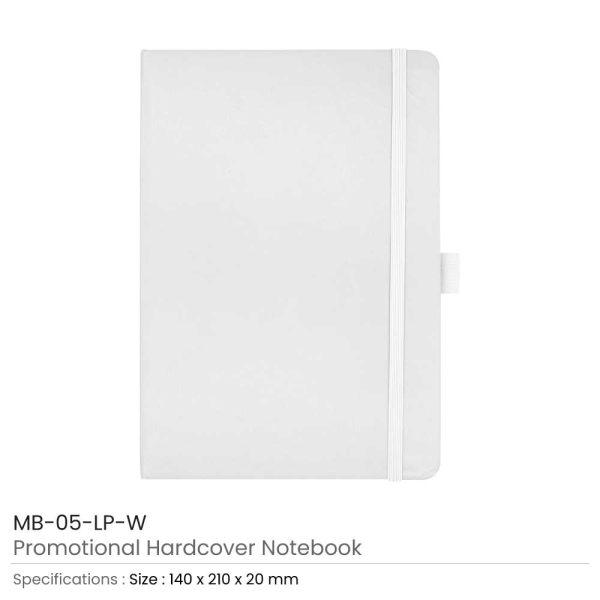 Hard Cover Notebooks White