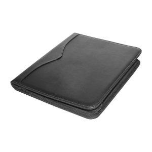 Leather Portfolio with Zipper & Calculator