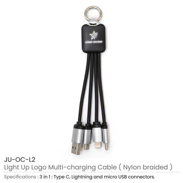 Light Up Multi Charging Cable JU-OC-L2