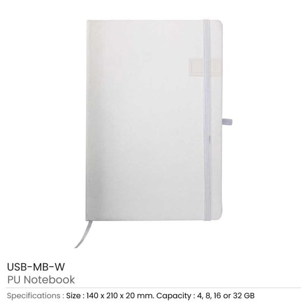 White Notebook with USB Flash Chip