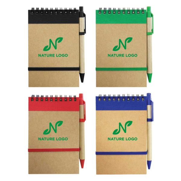 Branding Recycled Notepads with Pen