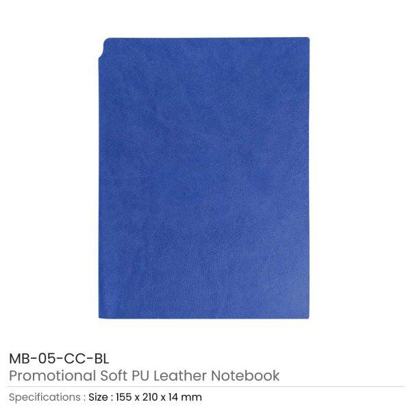 Blue PU Leather Notebooks