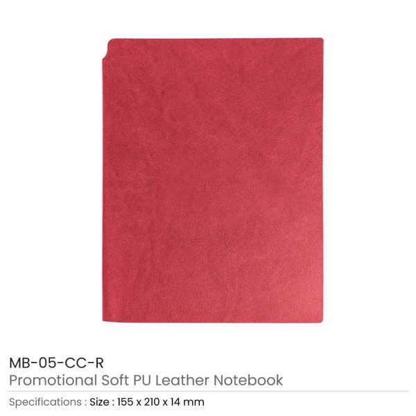 Red PU Leather Notebooks
