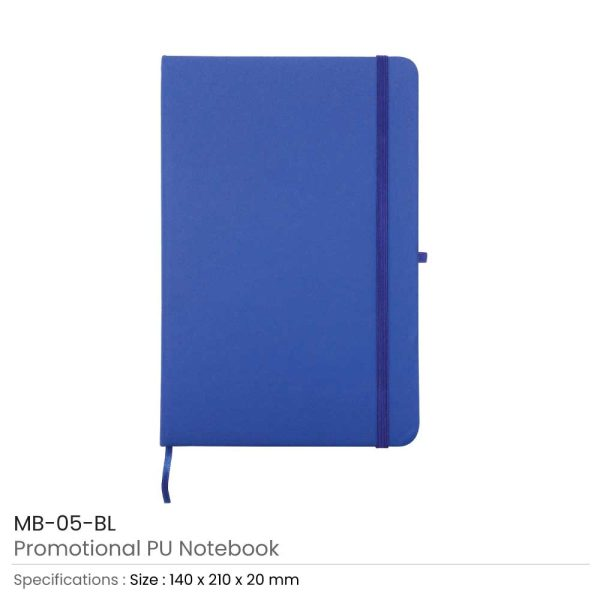 A5 Sized PU Leather Notebooks MB-05-BL