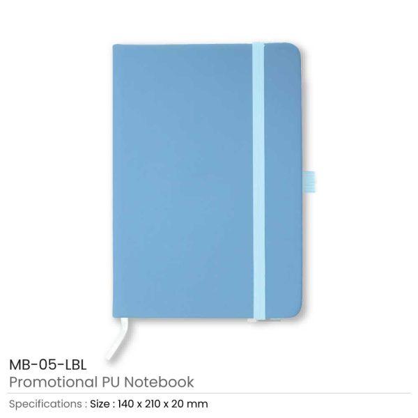 A5 Sized PU Leather Notebooks MB-05-LBL