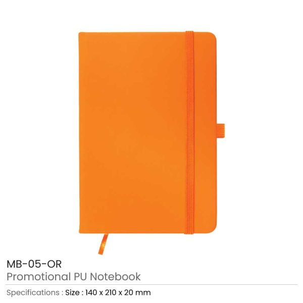 A5 Sized PU Leather Notebooks MB-05-OR