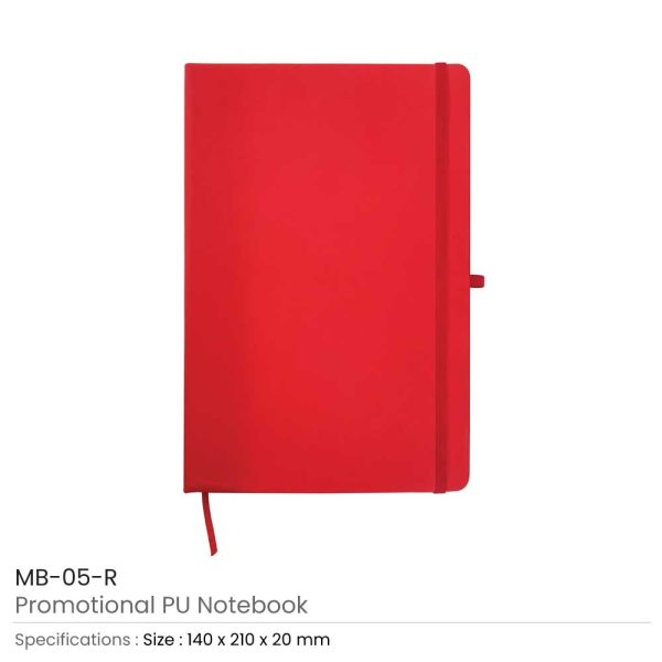 A5 Sized PU Leather Notebooks MB-05-R