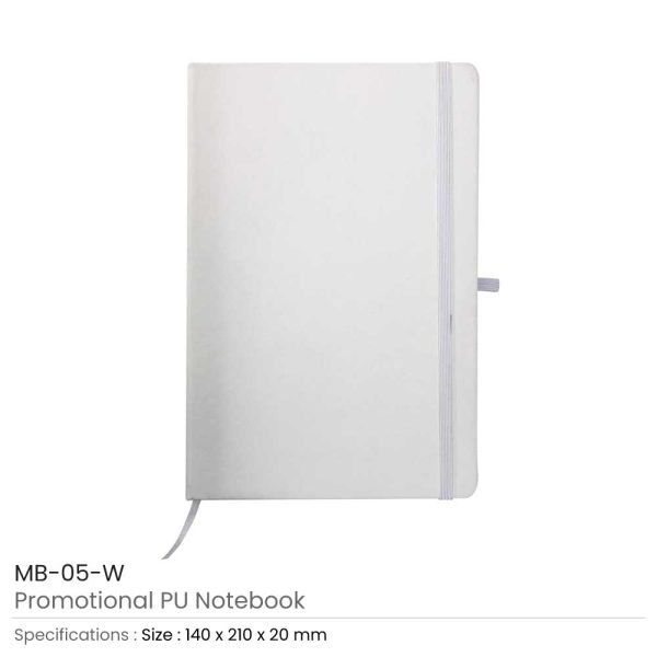 A5 Sized PU Leather Notebooks MB-05-W