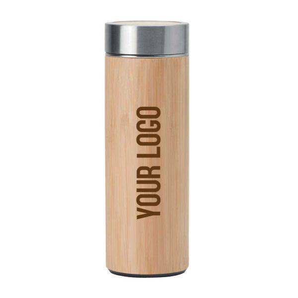 Branding Bamboo Flask TM-011