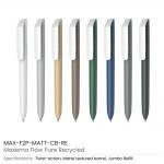 Recycled-Pens-Maxema-Flow-Pure-MAX-F2P-MATT-CB-RE-allcolor
