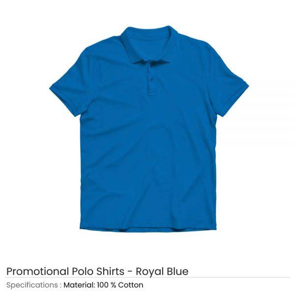 Polo T-shirts Royal Blue