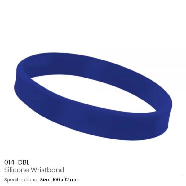 Silicone Wristbands Dark Blue
