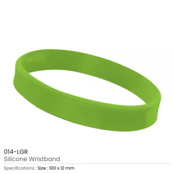 Silicone Wristbands Light Green