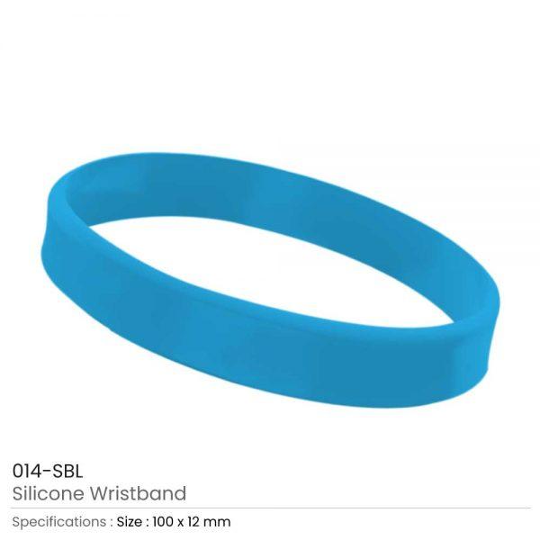Silicone Wristbands Sky Blue