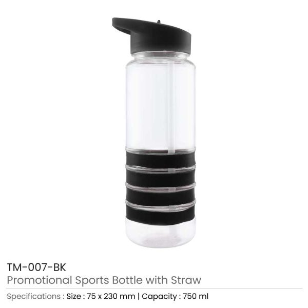 Sports Bottle with Straw TM-007