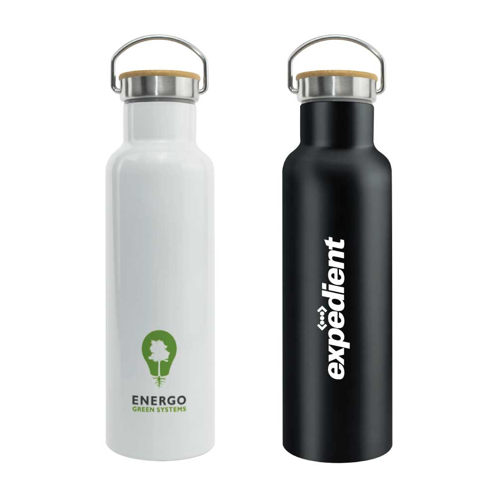 Branding Promotional Stainless Steel and Bamboo Flask