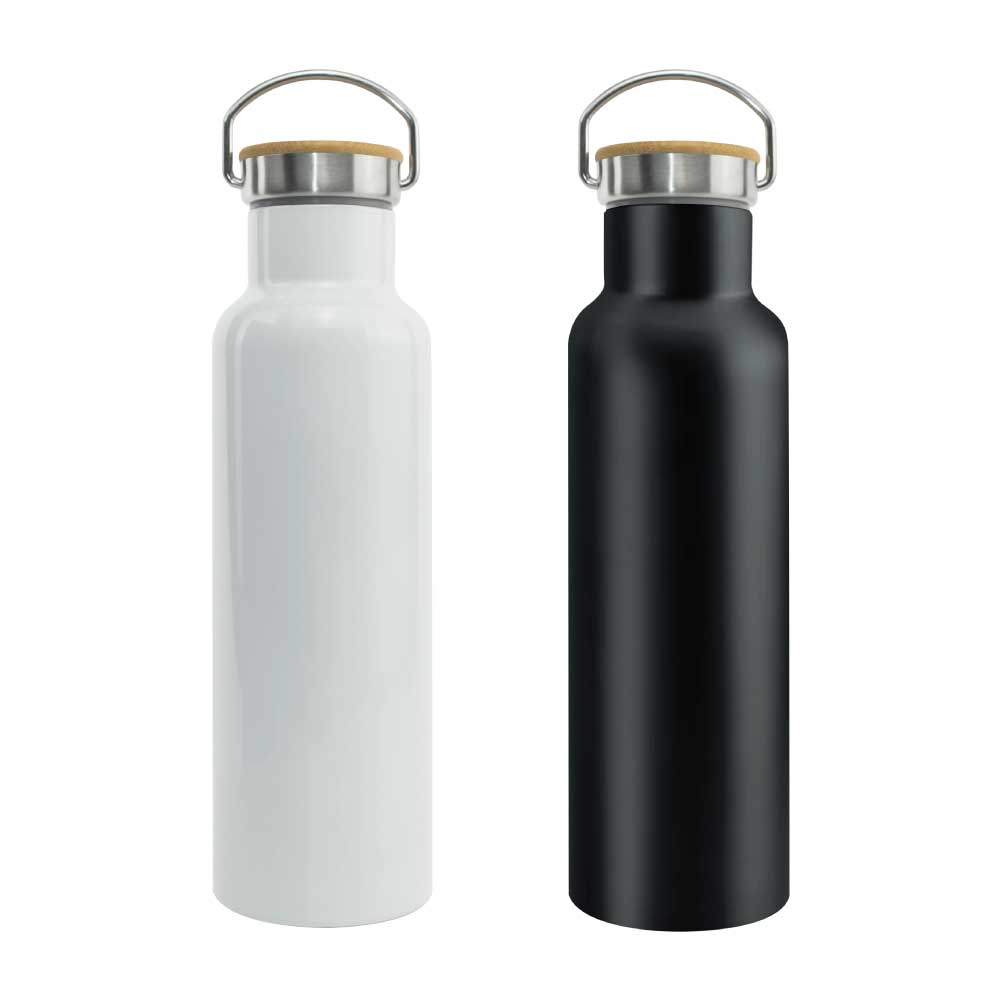 Promotional Stainless Steel and Bamboo Flask