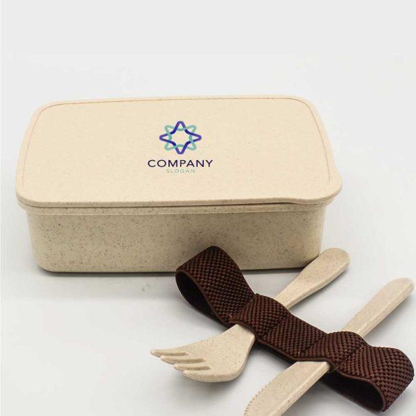 Branding Wheat Straw Lunch Box LUN-WS
