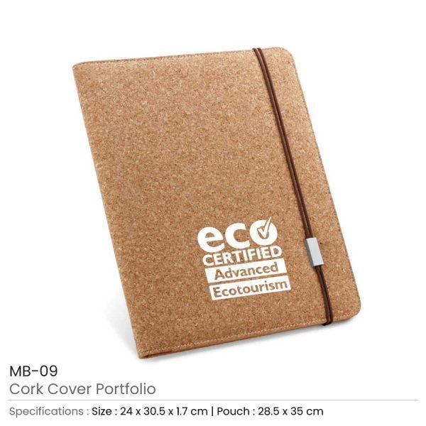 Promotional Cork Cover Portfolio