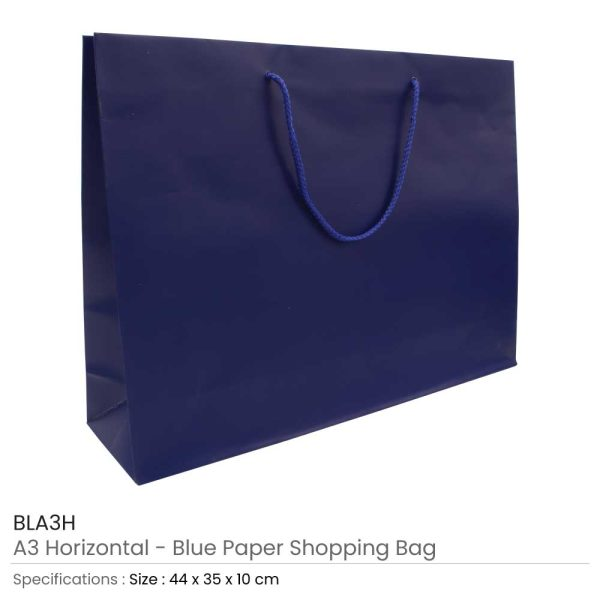 Paper Shopping Bags - Blue