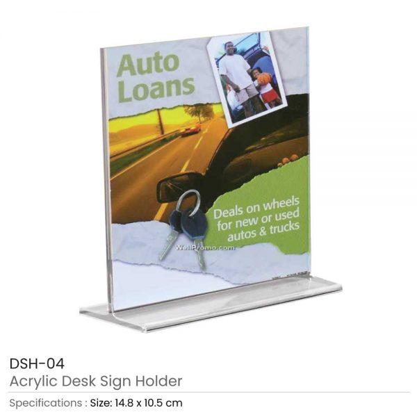 Acrylic Desk Sign Holders