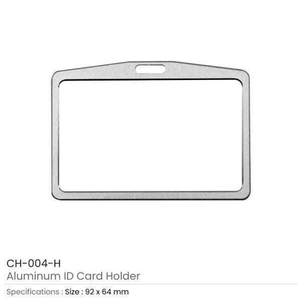Aluminum ID Card Holders Horizontal