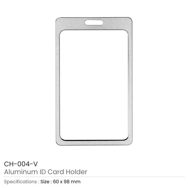 Aluminum ID Card Holders Vertical
