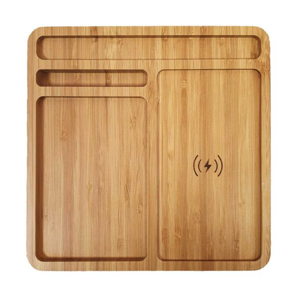 Bamboo Wireless Charger Docking Station