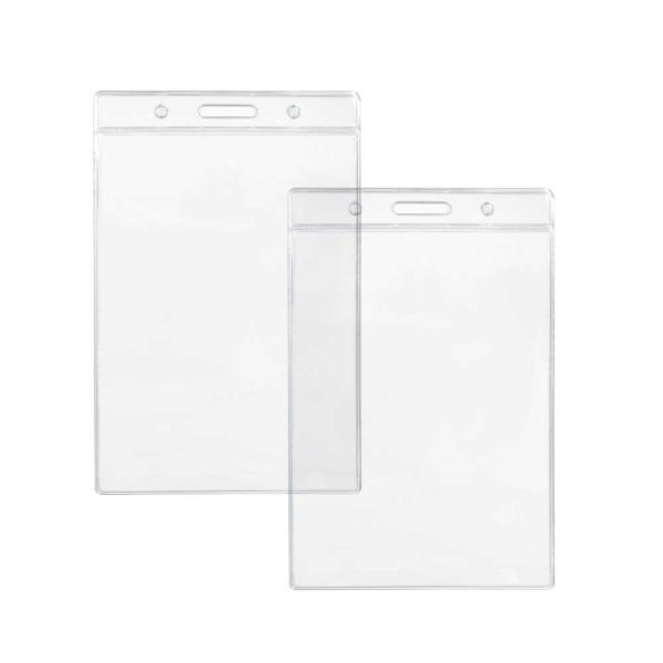 Clear Plastic ID Card Holders