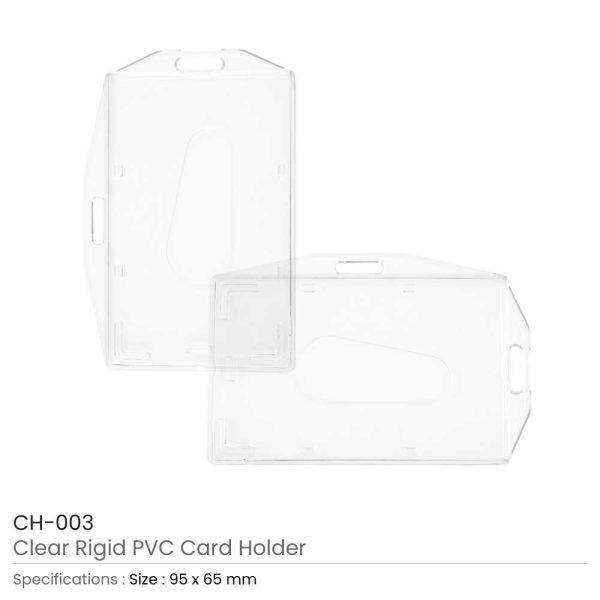 Clear Rigid PVC ID Card Holder