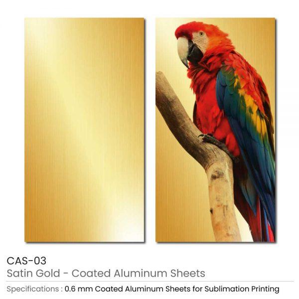 Coated Aluminum Sheets - Satin Gold Color