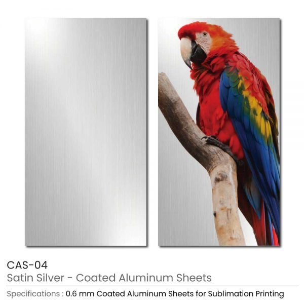 Coated Aluminum Sheets - Satin Silver Color