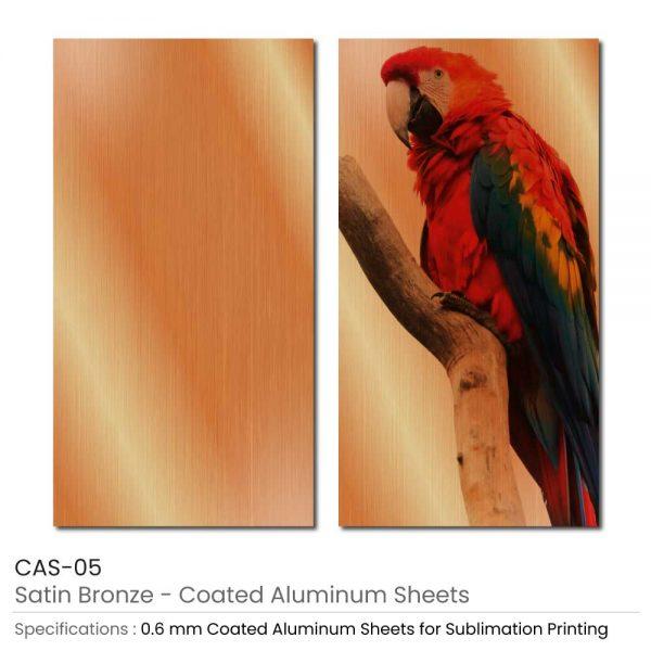 Coated Aluminum Sheets - Satin Bronze Color