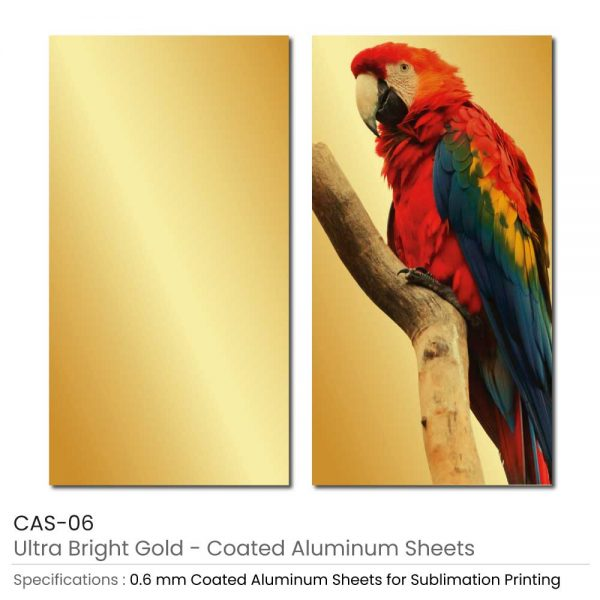 Coated Aluminum Sheets - Ultra Bright Gold Color