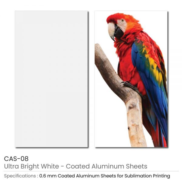 Coated Aluminum Sheets - Ultra Bright White Color