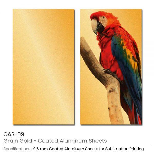Coated Aluminum Sheets - Grain Gold Color