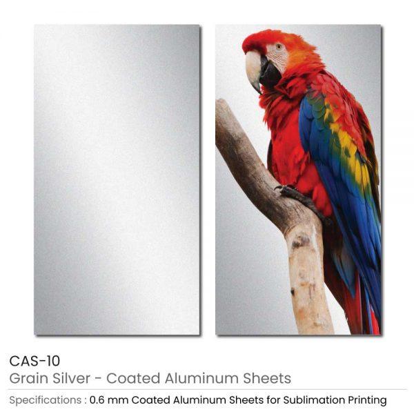 Coated Aluminum Sheets - Grain Silver Color