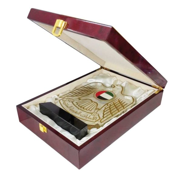 UAE Falcon Crystal Awards with Box