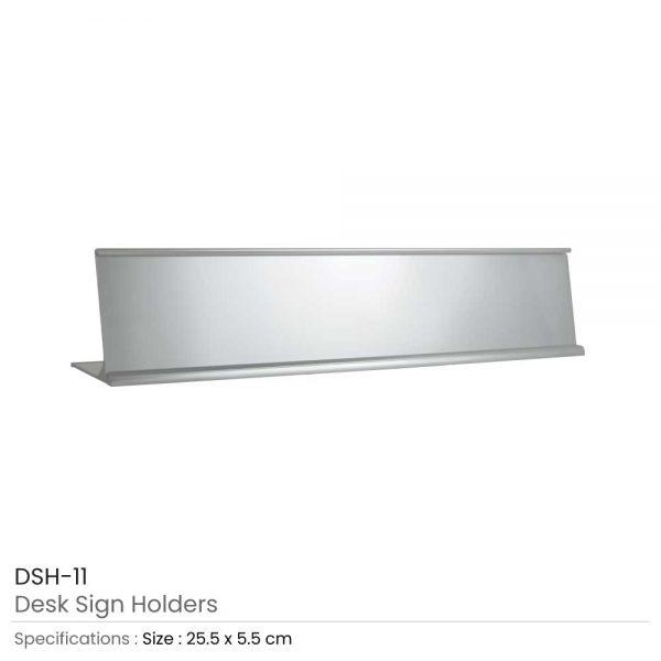 Desk Sign Holders Silver