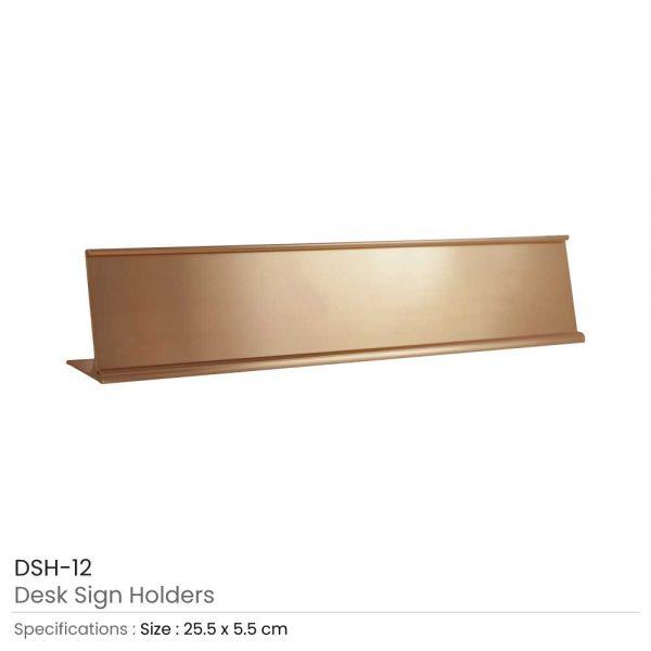 Desk Sign Holders Bronze