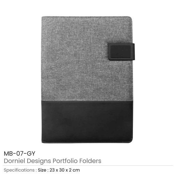 Dorniel Design Portfolio Folders Grey