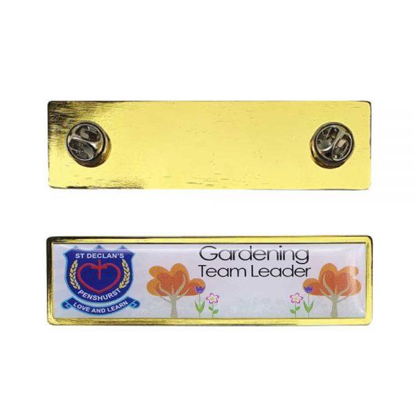Printed Gold Pin Badges