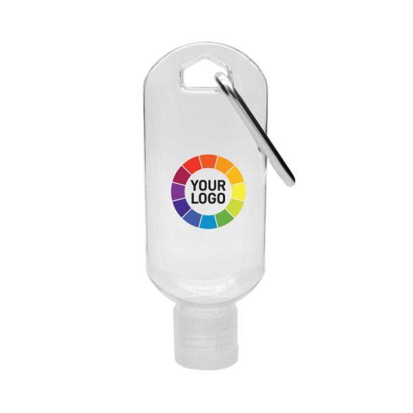 Branding Hand Sanitizer Gel with Carabiner Clip