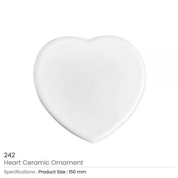 Heart Ceramic Ornaments 15 cm