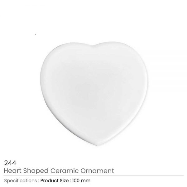 Heart Ceramic Ornaments 10 cm