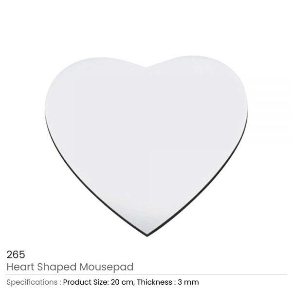 Heart shape mouse pad