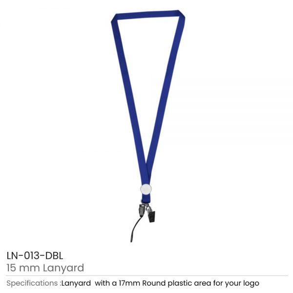 Lanyards with Epoxy Logo Dark Blue