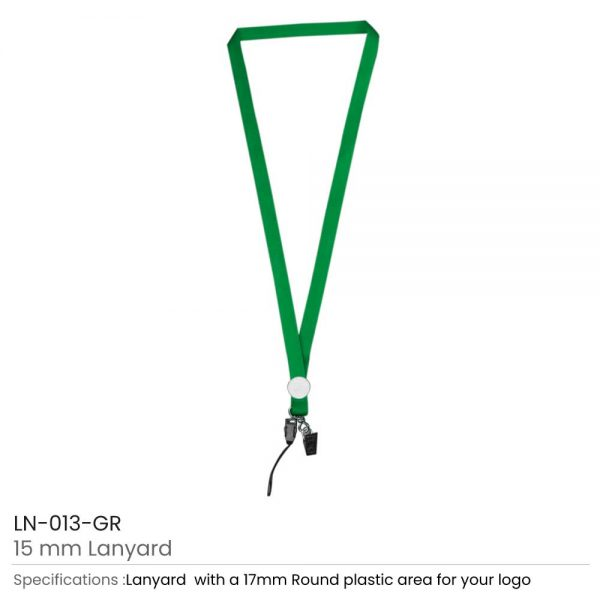 Lanyards with Epoxy Logo Green